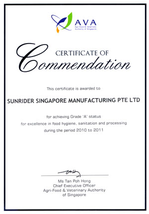Certificatecommendation